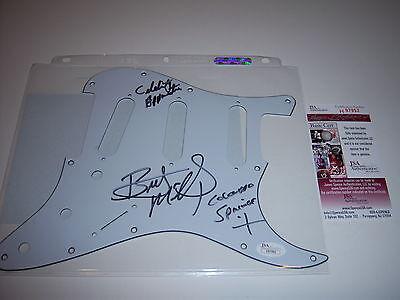 Brett Michaels Poison Celebrity Apprentice Jsa Coa Signed Guitar Pick Guard