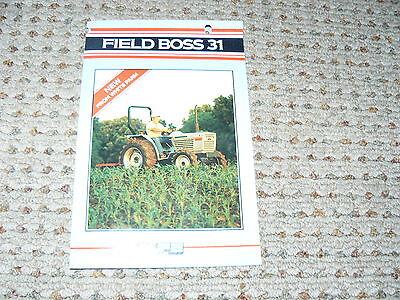 Oliver White Field Boss 31 Tractor Dealers Brochure