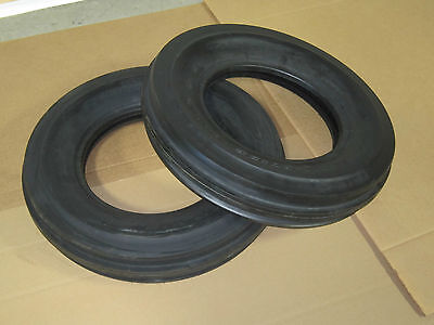 2 New 6.5-16 Tri Tread Front Tires Tubeless Tractor 650-16 6.5x16 650x16 3 Rib