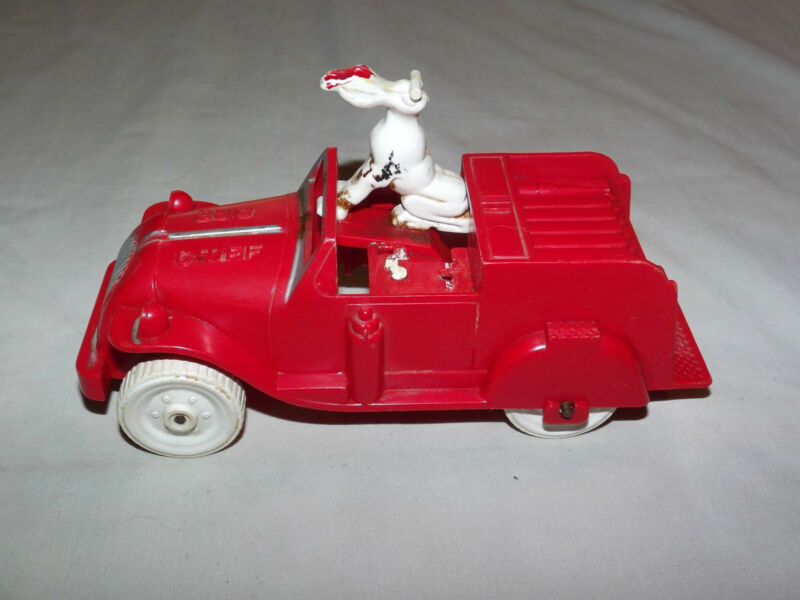 VINTAGE TOY 1950S IDEAL FIRE CHIEF PLASTIC FIRE TRUCK
