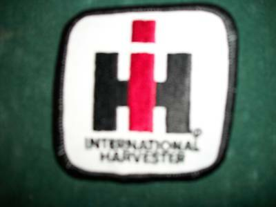 Ih International Iron On Embroidered Cloth Patch New