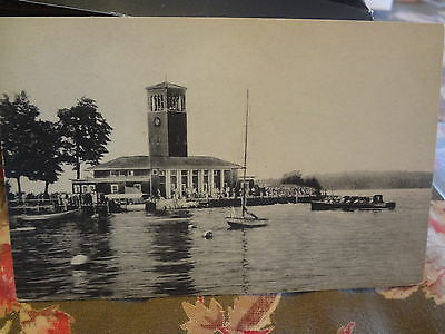 1920 Miller Memorial Bell Tower Pier Club Chautauqua Ny New York Post Card
