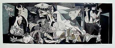 Pablo Picasso GUERNICA Estate Signed Limited Edition Large Size Giclee Art