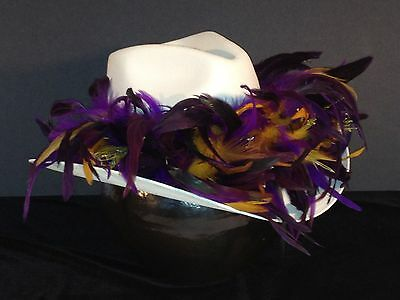 Baltimore Ravens Purple Feather Team Colors Cowboy Hat/$100 gift card w/purchase Baltimore Ravens Womens Hats