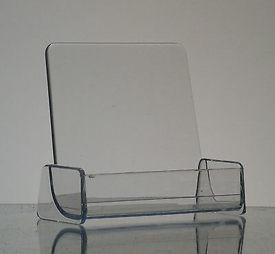 Clear Acrylic High Back Business Card Holder Display
