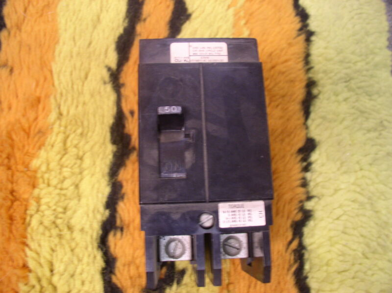 CHALLENGER  CH2050 2 Pole 50 Amp 277/480 Circuit Breaker FREE SHIPPING.