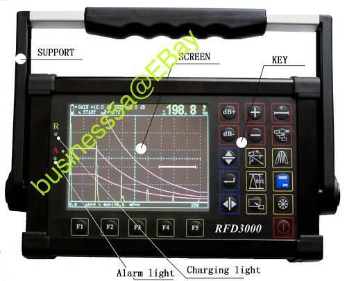 Digital Ultrasonic Flaw Detector RFD 3000 with best seller NDT book