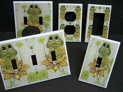 NEIL THE FROG RETRO 70'S SEARS FROG  LIGHT SWITCH  COVER PLATE OR OUTLET  - Lightswitch Cover