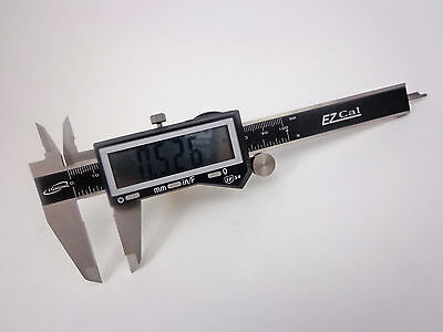 4 Ip54 Electronic Digital Caliper Fractional Sae Metric Lrg Lcd Stainless Iga
