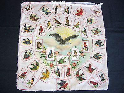 Rare 1912 S110 Turkish Trophies Birds Silk Tobacco Premium Pillow Top