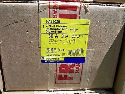 Square D Fa34030 3pole 30amp 480v Circuit Breaker New In Box Warranty Free Ship