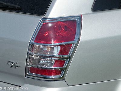 DODGE MAGNUM 2005 - 2008 TFP ABS CHROME TAIL LIGHT COVER INSERT ACCENT ()