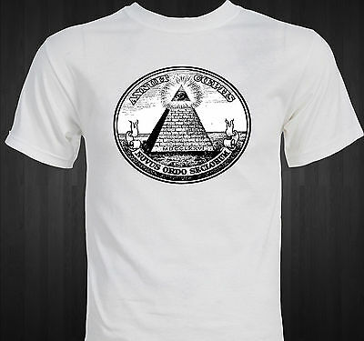 Dollar Bill Pyramid  Eye Of Providence  Masonic Illuminati Conspiracy T Shirt
