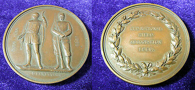 1860 Victorian Copper National Rifle Association Medal by George Adams 72g