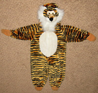 Size 2-3 Brown Black Tiger w White Beard Costume ](White Tiger Costumes)