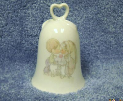 """Precious Moments Enesco Wedding Bell  1983 Vintage """"Lord Brought You Together"""""""