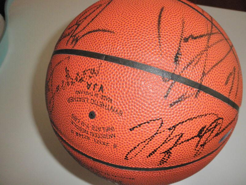 MICHAEL JORDAN SIGNED BASKETBALL 95-96 CHICAGO BULLS TEAM BY 14 UPPER DECK COA!!