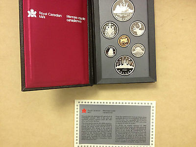 1987 Canada 7 coin Double Dollar proof set, COA with silver dollar