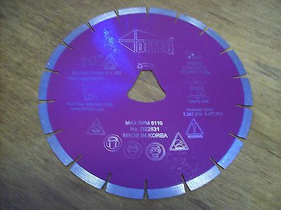 10 Purple Liberty Bell Blade For Soff Cut Saw - Early Entry Concrete Blade