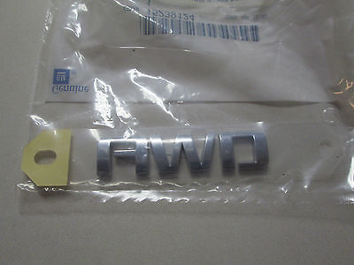 2009-2018 CHEVROLET TRAVERSE EQUINOX AWD REAR LIFTGATE EMBLEM 15239124 23463274