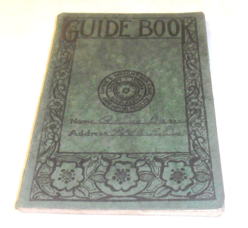 VINTAGE 1933 SOPHIE B. WRIGHT HIGH SCHOOL GUIDE BOOK NEW ORLEANS LA.