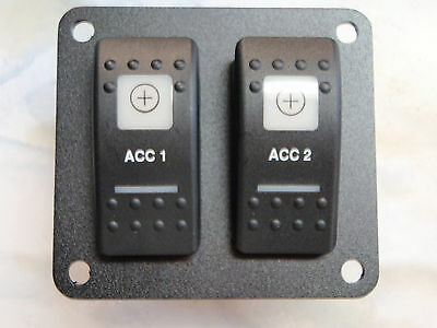 SWITCH PANEL ACCESORY 1 AND 2 LIGHTED SWITCHES PSC21BK ESA2 V1D1G66B SWITCH (D And G Sale)