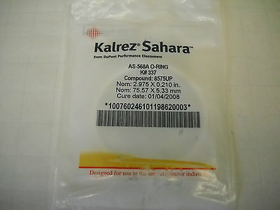 Kalrez Sahara Oring  As 568A O Ring  K  337  Compound  8575Up  Dupont Dow