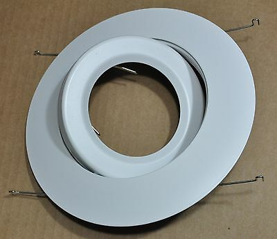 6 Inch Par30 Adjustable Gimbal Ring Trim White Recessed Can Light
