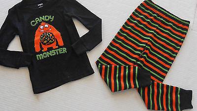 Long Boy Candy (Gymboree Gymmies Boy's Black CANDY MONSTER Long Pajamas Size)