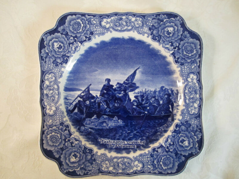 Vintage George Washington Bicentenary Memorial Plate Crossing the Delaware