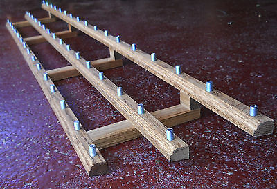 (X3 LOT OF 3 EACH) 48 BEER TAP HANDLE DISPLAY ALMOST 5'  3 LEVELS SOLID OAK