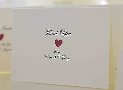 10 x Wedding Thank You Cards (Personalised & Handmade)