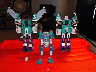 G1 Transformers Lot of 3 Broken Sixshot & Quickswitch Figures for Parts Repair