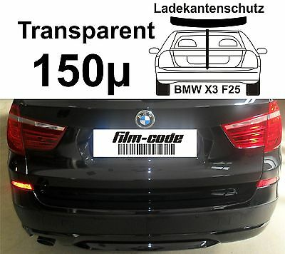 Lackschutzfolie Ladekantenschutz für BMW X3  F25 transparent 150µ