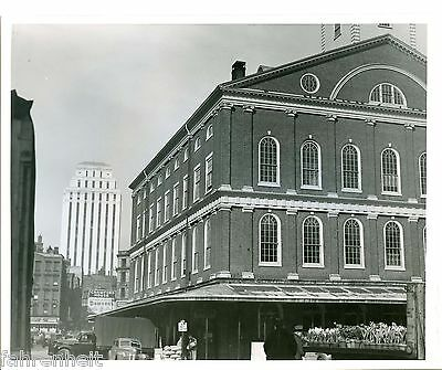 ORIGINAL B&W FANEUIL HALL WARNER BROS STUDIOS LOCATION  PHOTO 1940's (Faneuil Hall Location)