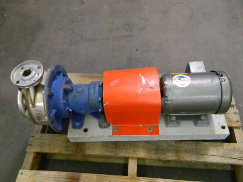 GOULDS FG7ST116 1-1/4X2-8 STAINLESS S/S CENTRIFUGAL PUMP W/ 1-1/2HP 230/460V 3PH