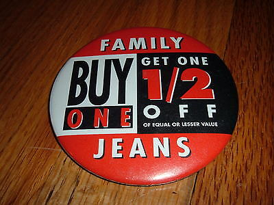 FAMILY JEANS Buy One Get 1/2 Off Vintage Pin Button Christmas Sale Mall store - Family Clothes Store