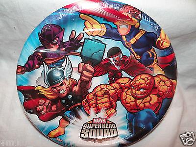 NEW MARVEL SUPER HERO SQUAD DESSERT CAKE PLATES PARTY SUPPLIES   (Super Hero Squad Party Supplies)