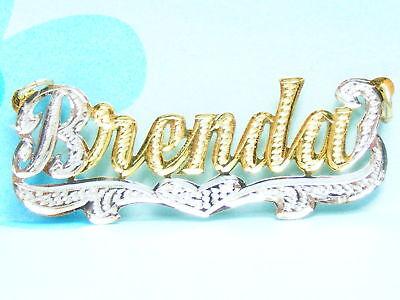 Personalized 1K Gf Nameplate Necklace W Chain Brenda