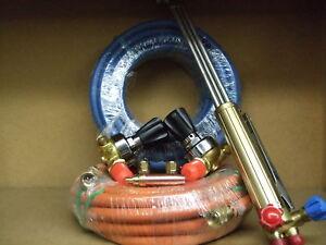 Oxygen & Propane gas cutting kit Oxy/Prop Burning Set c/w Free Goggles & Gloves