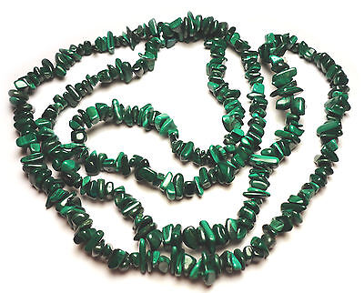 Green Malachite Chip (INCREDIBLE FOREST GREEN MALACHITE CHIP BEADS 146F 36