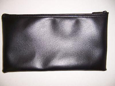 1 Brand New Black Vinyl Bank Deposit Money Bag   Tool Organizer