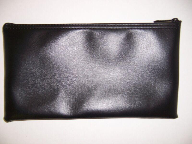 6 Pack Brand New Black Vinyl Bank Deposit Money Bag - Tool Organizer