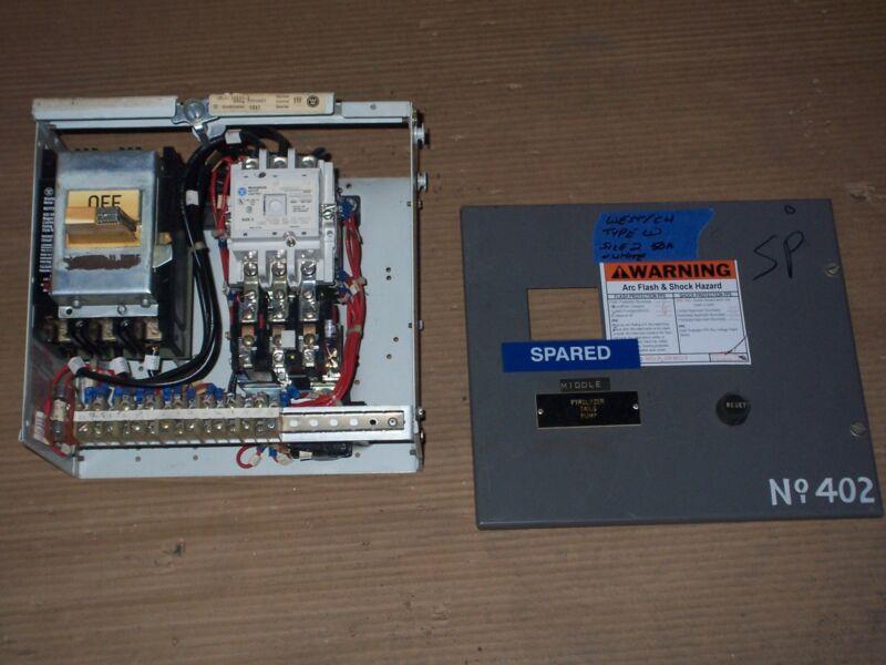 WESTINGHOUSE CUTLER HAMMER TYPE W SIZE 2 STARTER 50 AMP BREAKER MCC BUCKET WHITE