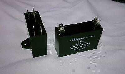 A/C Mini Split Capacitor (1) - 4 mfd 4 uf - 450V - 4 Terminal - 50/60HZ