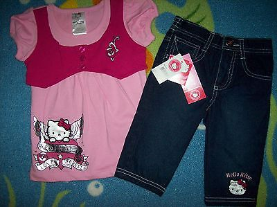 Hello Kitty Toddler Outfit (Hello Kitty Outfit Girls Angelic 2pc Set Size 2T 3T 4Toddler Denim Love)