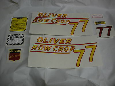 Oliver 77 Row Crop Yellow Numbers Tractor Decals New Free Shipping