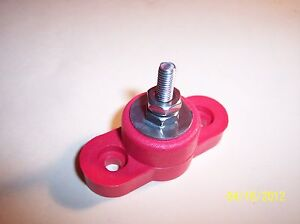 77010R   3/16 BATTERY POWER JUNCTION / DISTRIBUTION  POST  10 X 32  RED