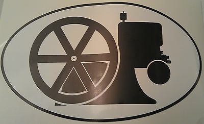 Hit and Miss Engine Oval Sticker