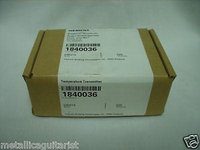 Siemens Hvac Temperature Transmitter - 1840036 040219 New